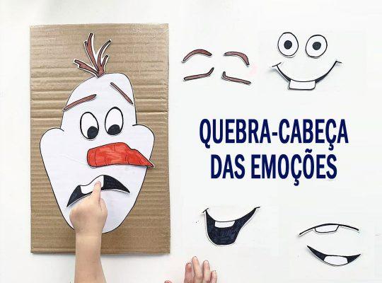 Quebra-cabeça das emoções - ABC das Emoções